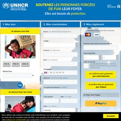 Les réfugiés ont besoin de votre soutien! - UNHCR - L'Agence des Nations Unies pour les réfugiés