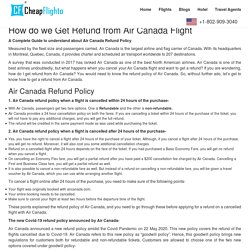 How do we Get Refund from Air Canada Flight