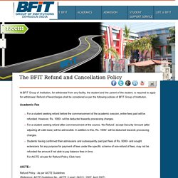 The BFIT Refund and Cancellation Policy