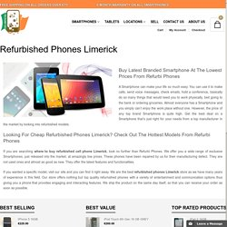 Buy refurbished iPhone and Blackberry