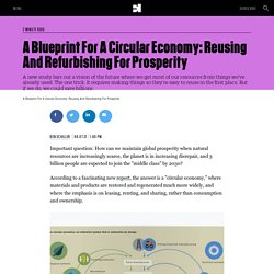 A Blueprint For A Circular Economy: Reusing And Refurbishing For Prosperity