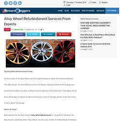 Alloy Wheel Refurbishment Services From Experts