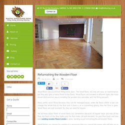 Refurnishing the Wooden Floor