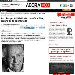 Karl Popper (1902-1994) : la réfutabilité, critère de la scientificité