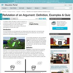 Refutation of an Argument: Definition, Examples & Quiz