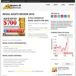 Regal Assets Review 2016
