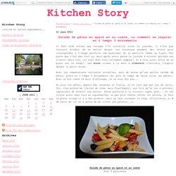Salade de pâtes au speck et au comté, ou comment se régaler en 2 temps 3 mouvements - Kitchen Story