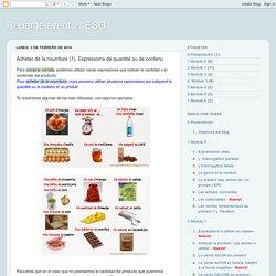 Regardelevent 2º ESO: Acheter de la nourriture (1). Expressions de quantité ou de contenu