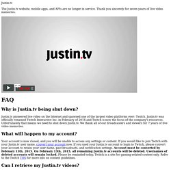 Justin.tv - Streaming live video broadcasts for everyone