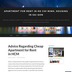 Advice Regarding Cheap Apartment for Rent in HCM
