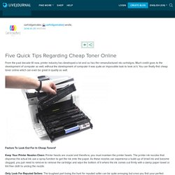 Five Quick Tips Regarding Cheap Toner Online
