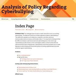 Analysis of Policy Regarding Cyberbullying
