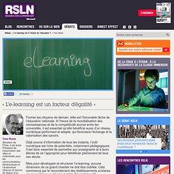 « L'e-learning est un facteur d'égalité »