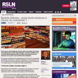 Rentrée littéraire : quels droits d'auteurs à l'heure du numérique ?