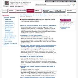 Femmes et hommes - Regards sur la parité - Insee Références - édition 2012
