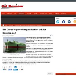 BW Group to provide regasification unit for Egyptian port
