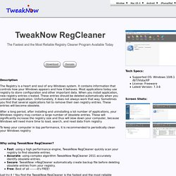 Free Regcleaner for Windows, RegCleaner 2011 Registry Cleanup Tool for Windows 7, XP