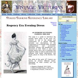 Regency Fashions for Ladies, Vintage Victorian