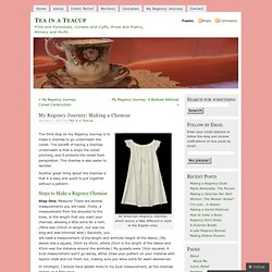 My Regency Journey: Making a Chemise