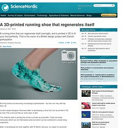 A 3D-printed running shoe that regenerates itself