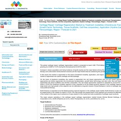 Cartilage Repair/ Cartilage Regeneration Market by Treatment modalities & Application - 2021