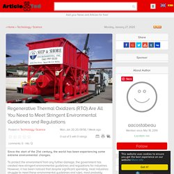 (RTO) Environmental Guidelines and Regulations