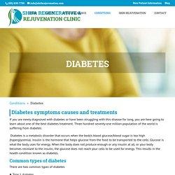 Diabetes - Shifa Regenerative & Rejuvenation Clinic