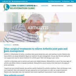 Arthritis - Shifa Regenerative & Rejuvenation Clinic