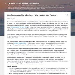 How Regenerative Therapies Work?