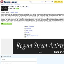 Regent Street Artists in London: phone, address and website