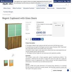 Regent Tall Cupboard with Glass Doors