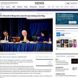 UC Board of Regents cancels upcoming meeting