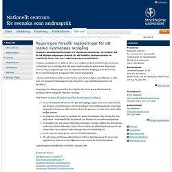 Regeringen föreslår lagändringar för att stärka nyanländas skolgång