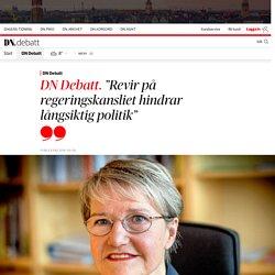 """""""Revir på regeringskansliet hindrar långsiktig politik"""""""