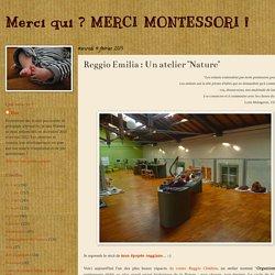 """Reggio Emilia : Un atelier """"Nature"""""""
