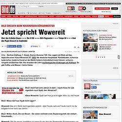 Jetzt spricht Wowereit: BILD exklusiv beim Regierenden Bürgermeister - Berlin - Berlin
