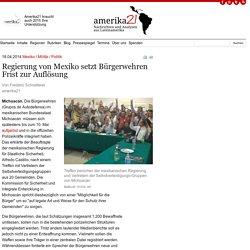 Regierung von Mexiko setzt Bürgerwehren Frist zur Auflösung
