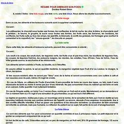 REGIME POUR DIMINUER SON POIDS - Robert Séror