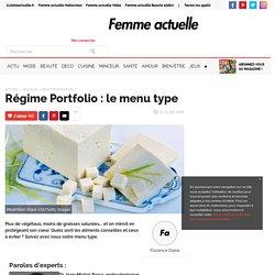 Régime Portfolio : le menu type