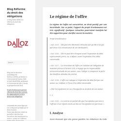 Blog Réforme du droit des obligations