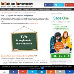 TVA : le régime du réel simplifié d'imposition