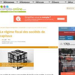 Le régime fiscal des sociétés de capitaux