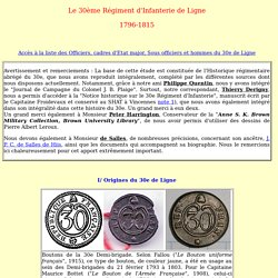 le 30e Régiment d'Infanterie de Ligne de 1796 à 1815