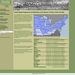 United States Regiments and Batteries in the Eastern Theater of the Civil War