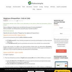 Régimes d'imposition : choisir le formulaire CA3 ou CA12