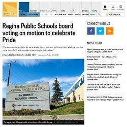 Regina Public Schools board voting on motion to celebrate pride