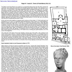 Regio IV - Insula X - Terme di Porta Marina (IV,X,1-2)