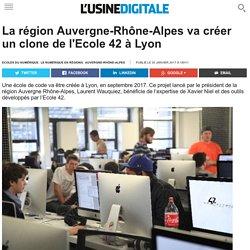 La région Auvergne-Rhône-Alpes va créer un clone de l'Ecole 42 à Lyon