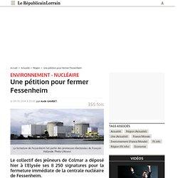 Une pétition pour fermer Fessenheim
