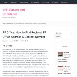 PF Office: How to Find Regional PF Office Address & Contact Number